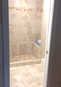 Bathroom tile installation, shower tile, floor tile, ceramic tile